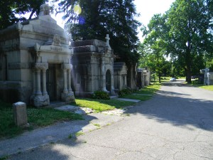 Mausoleum row, Mount Mora, St. Joseph, Missouri