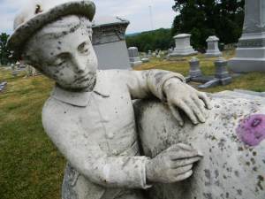 School boy tombstone, Mount Vernon Cemetery, Atchison, Kansas